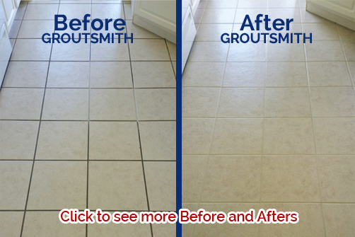 grout cleaning before after icon